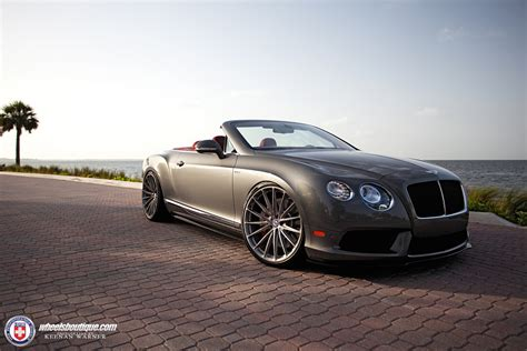 Slammed Bentley Continental Gtc On Custom Hoops