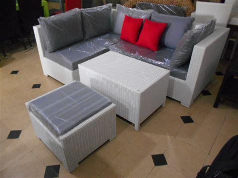 Sofa Minimalis Rotan Sintetis jual sofa set rotan sintetis minimalis 5 seat bogor