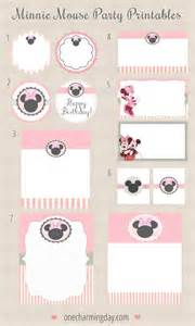 free minnie mouse party printables one charming day 2017