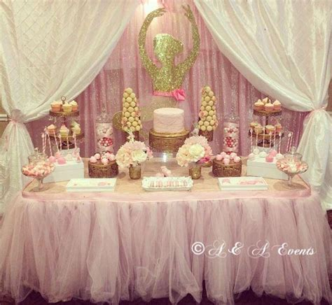 Table Set Decoration 15 Bridal Shower Birthday Baby Shower wedding theme ballerina baby shower ideas 2498621