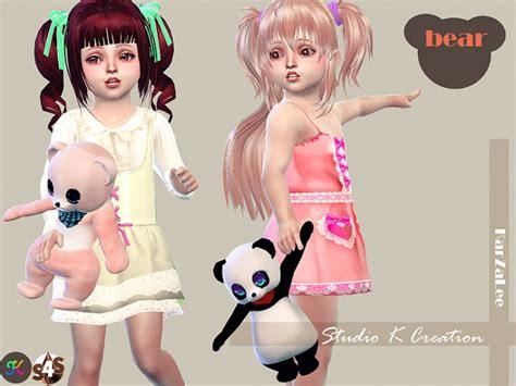 bow set at studio k creation 187 sims 4 updates teddy bear toy for toddler at studio k creation 187 sims 4