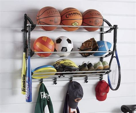 Sport Bag Organiser sports equipment storage rack garage organizer station