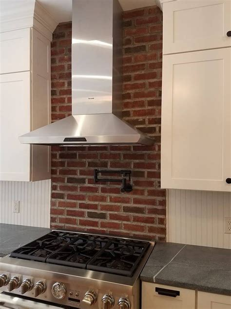 brick backsplashes for kitchens kitchen brick backsplashes midwest mosaic inc