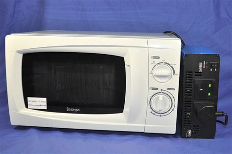 Microwave 500 Watt 24 volt inverter and white 500 watt microwave oven