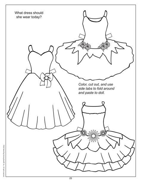 paper dolls cut outs coloring pages fashion coloring