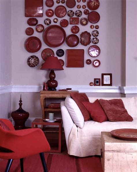 palatial living interior shades of red colour styling red rooms martha stewart