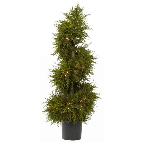 pre lit christmas topiary trees 43 in pre lit cedar spiral topiary clear lights trees at hayneedle