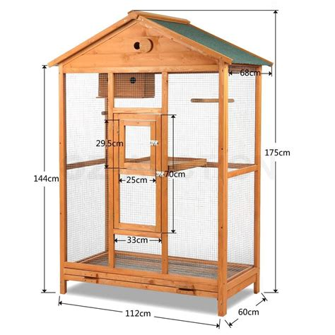 waterproof house large wooden bird cage wire mesh parrot aviary house waterproof roof fir wood aud