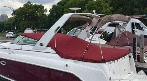 boat canvas covers rinker fiesta vee 270 chicago marine canvas custom