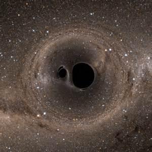Milky way galaxy as seen through a simulated binary black hole merger