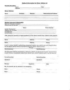 Grandparent Medical Release Authorization Form For Grandparents Template