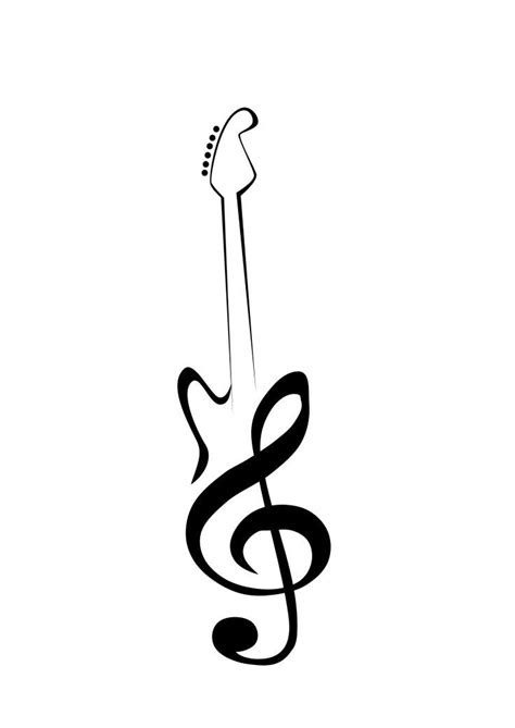 bass clef tattoo designs 31 best bass clef guitar images on