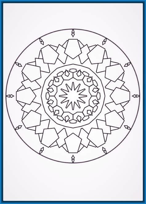 imagenes de mandalas faciles para colorear dibujos de mandalas f 225 ciles para colorear dibujos de