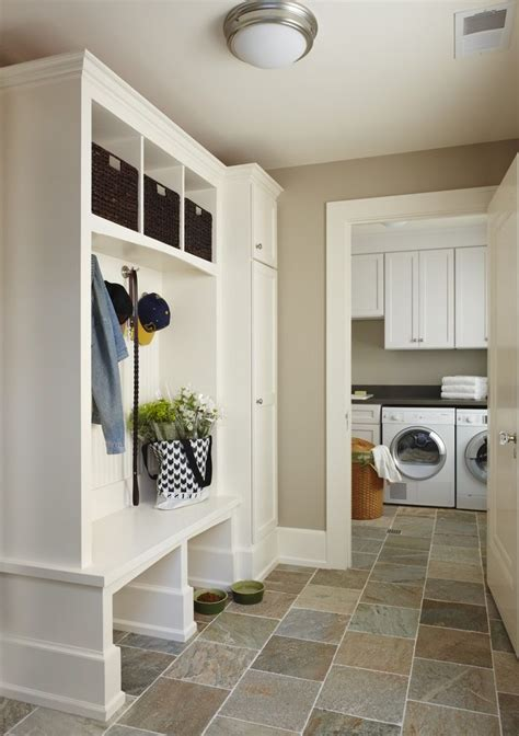 coat room ideas laundry room traditional with tile