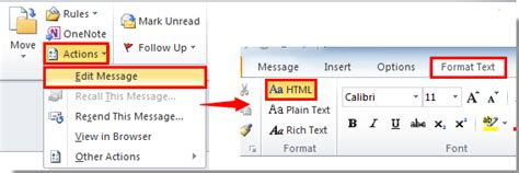 format html outlook 2007 how to view source code of html email body in outlook