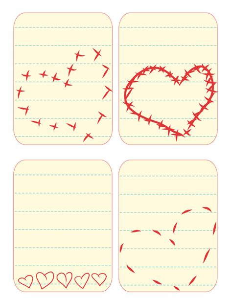 printable valentine note cards 7 best images of free vintage printable note cards free