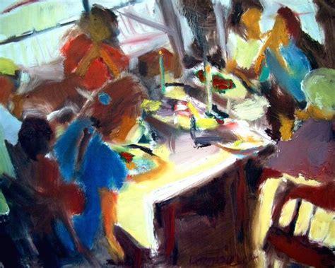 dinner painting family dinner by bob dornberg