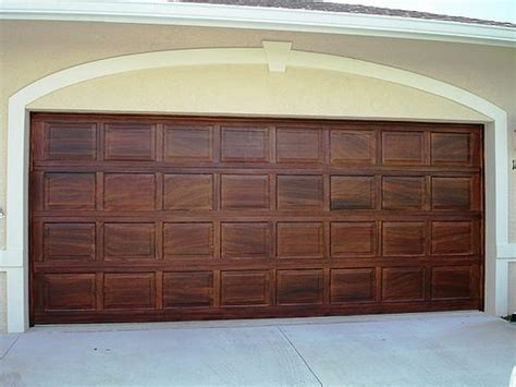 faux wood painted garage doors myideasbedroom