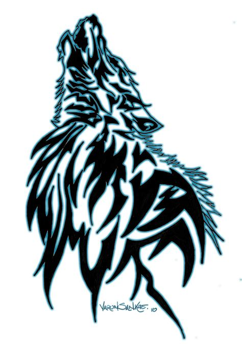 crazy tribal tattoos tribal wolf design