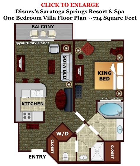 disney treehouse villa floor plan review disney s saratoga springs resort spa page 4