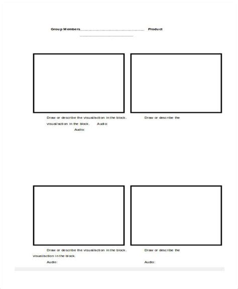 script storyboard template script storyboard 6 exles in word pdf