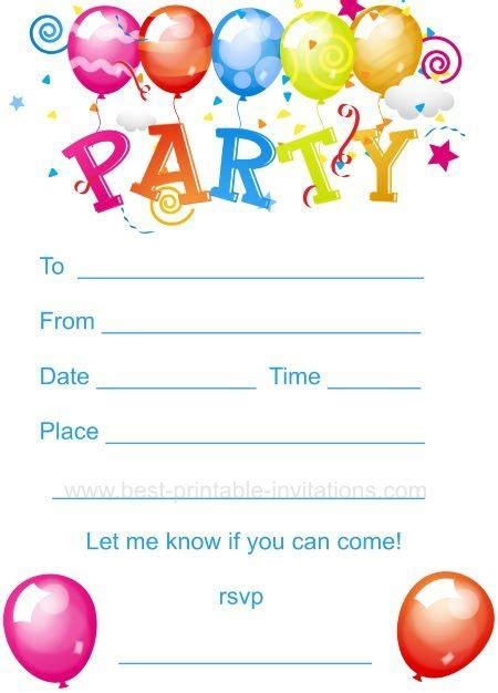 free printable birthday invitations 12 year olds printable birthday party invitations