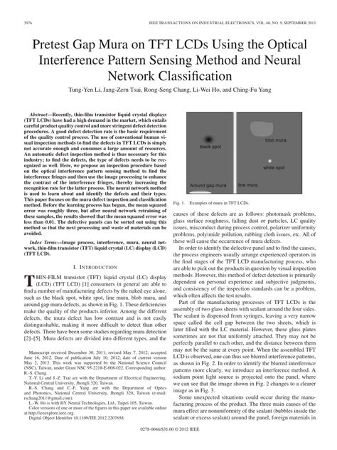 pattern classification using neural networks pdf pretest gap mura on tft lcds using the pdf download