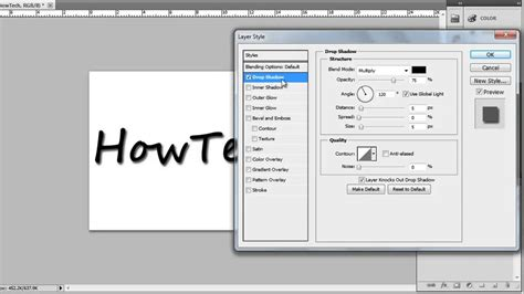 Add Meme Text - how to add a drop shadow to text in photoshop youtube