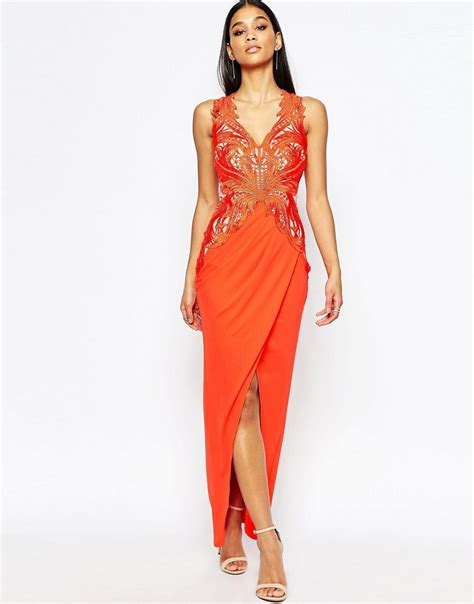 lipsy lace applique dress lipsy lipsy lace applique maxi dress with plunge at