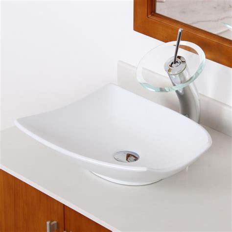 bathroom unique white ceramic porcelain vessel sink