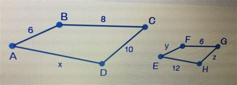 Find Similar The Polygons Below Are Similar Find The Value Of Z A 4 5 B 7 5 C 12 D 16