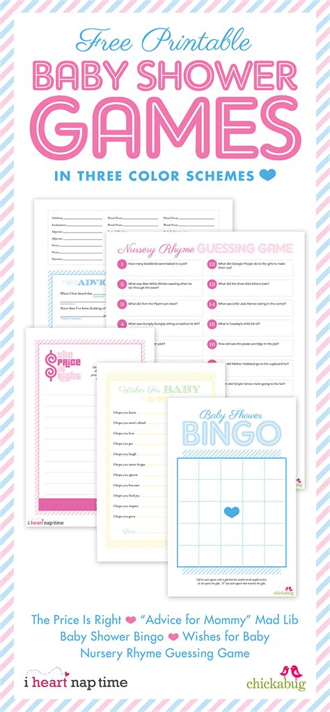 baby shower games templates free download free printable boy baby shower games