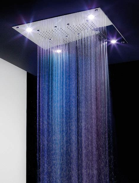rain shower head with lights rain spa shower heads by ib rubinetterie karmatrendz