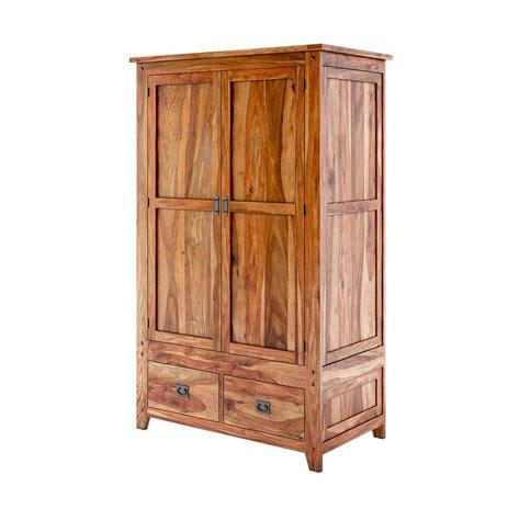 delaware rustic solid wood bedroom wardrobe armoire