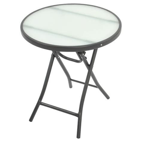 Bistro Folding Accent Table Clear Room