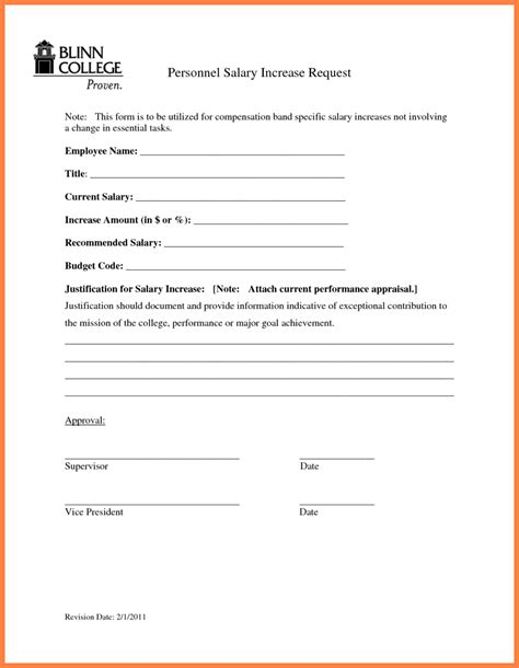 8 salary increase template word salary slip