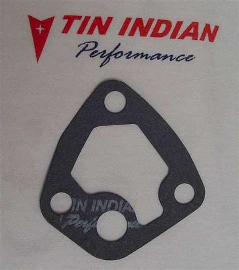 oil filter housing gasket tin indian performance pontiac oil filter housings