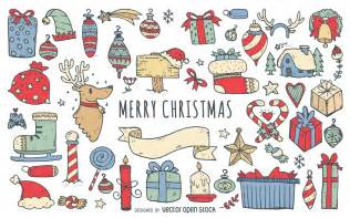doodle merry merry doodles collection vector