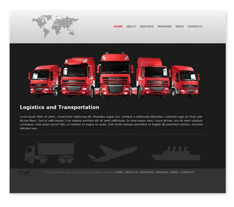 website templates for logistics company transport and logistics template templates dmxzone com