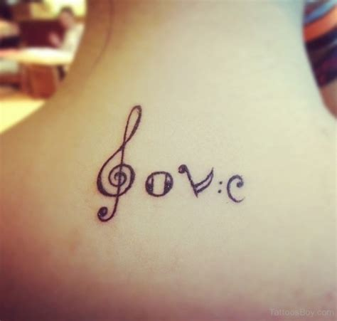 music symbol tattoos symbol black ink on nape golfian