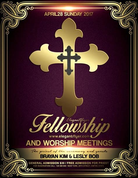 free religious flyer templates church meeting event psd flyer template free