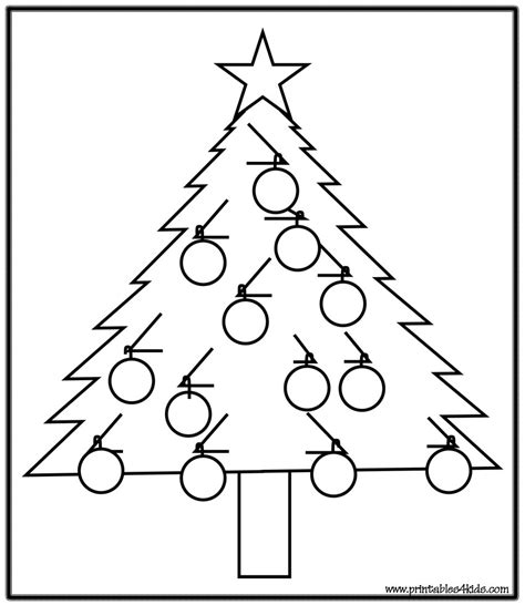 Simple Christmas Tree Coloring Pages Simple Tree Coloring Pages