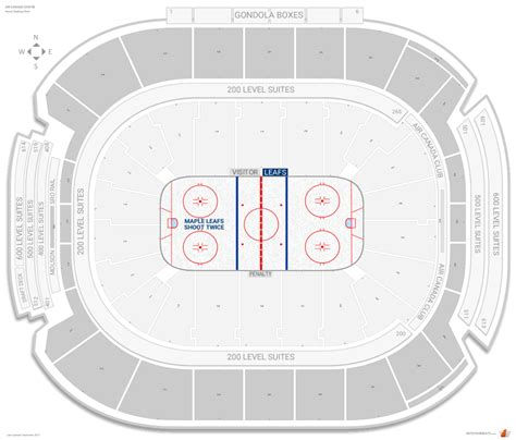 air canada interactive map toronto maple leafs seating guide air canada centre