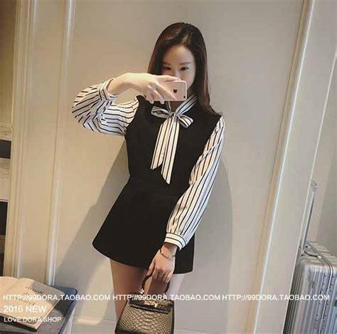 Dress Bergaris baju wanita hitam putih bergaris terbaru myrosefashion