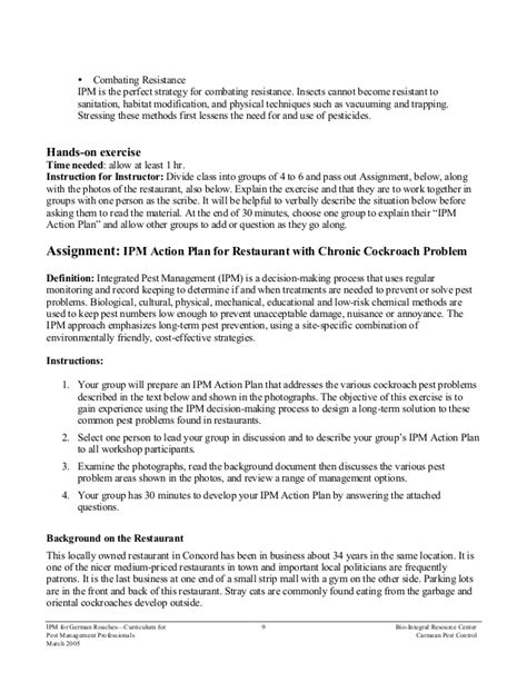 pest management plan template pest management plan template choice image template