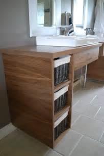 Custom Made Floating Vanity Handmade Custom Floating Bathroom Vanities By Clark Wood