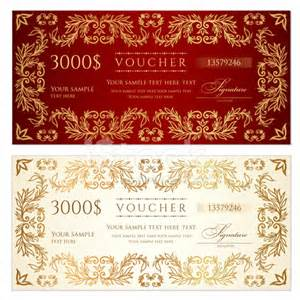 money certificate template voucher gift certificate template banknote money