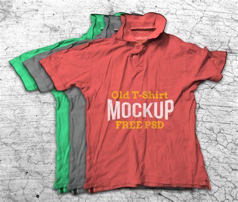 Tshirt Kaos Map Of World crumpled t shirt mockup psd vectors 365psd