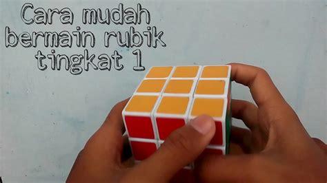 tutorial cara bermain rubik 3x3 cara bermain rubik 3x3 mudah part 1 youtube