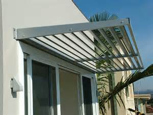 aluminium cantilevered awnings and louvres